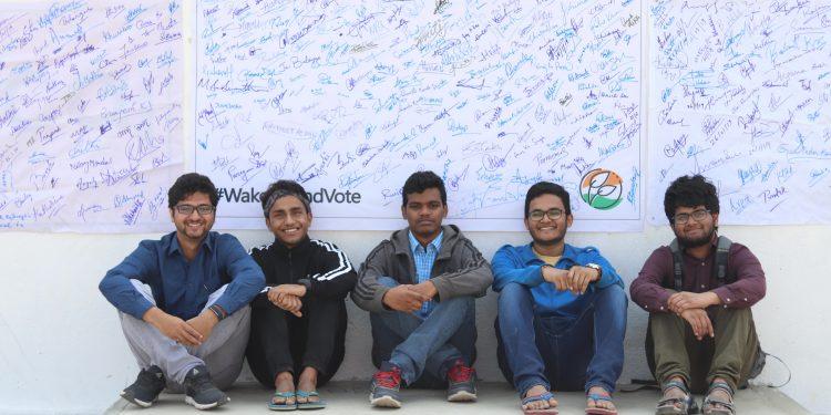 "IIT-G Techniche team behind behind ""Wake Up and Vote"" Campaign"