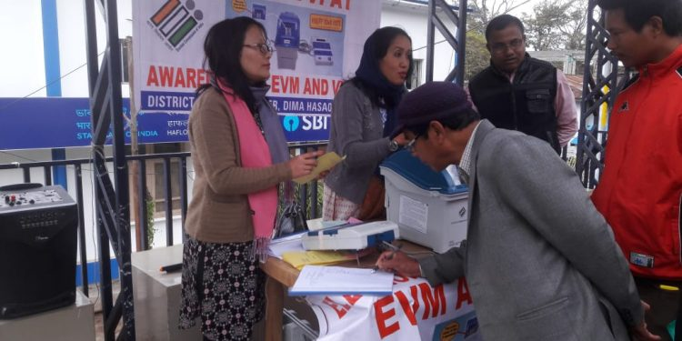 Team of SVEEP officials giving out training on EVM and VVPAT machines