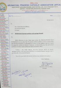 Church body apologises, withdraws prayer to vote for ex-Arunachal CM Tuki 2