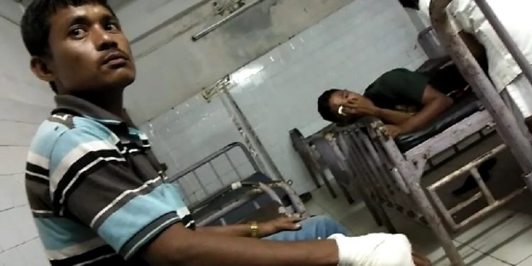 The injured IPFT workers in hospital