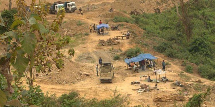 Mining in Kaziranga