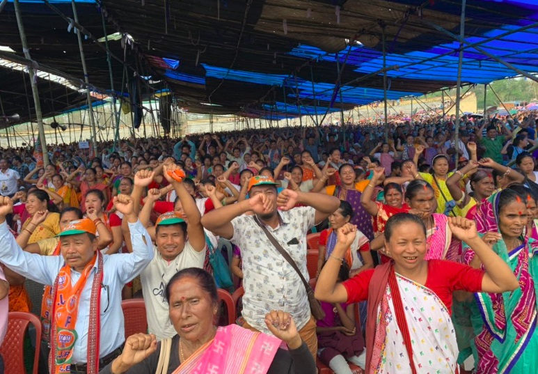 Himanta campaigns in Diphu for Haren Sing Bey 1