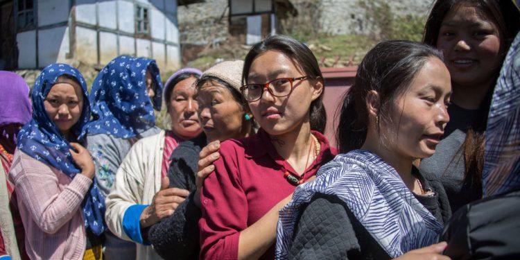 Voters in Arunachal