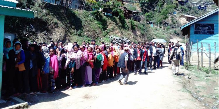 Voters in Nagaland