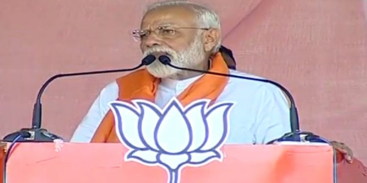 Prime Minister Narendra Modi addressing a rally (file image). Image Credit: Twitter