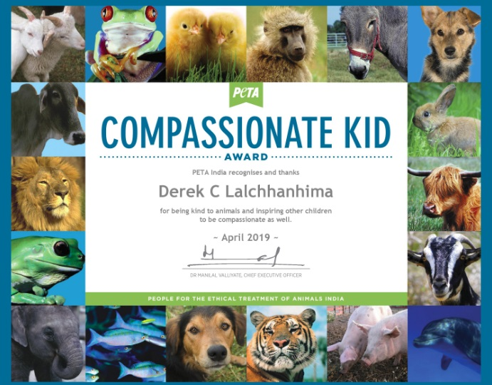 PETA awards tender-hearted Derek from Mizoram for act of compassion 1