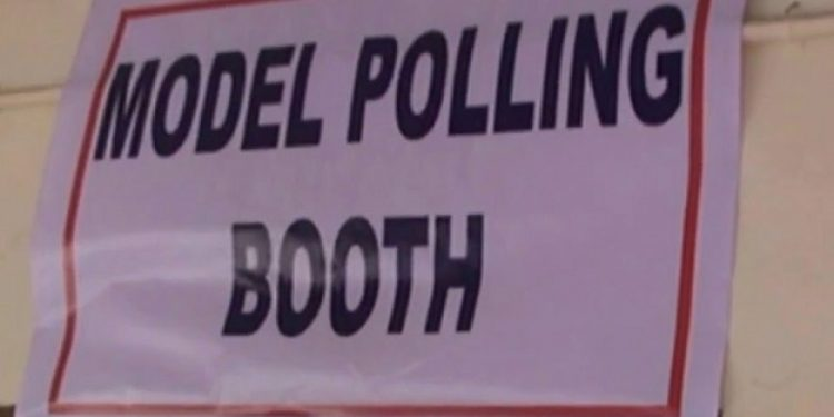 model polling station