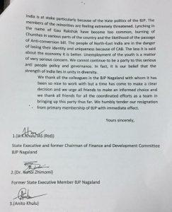 Nagaland BJP leaders HK Khulu, Kuhoi Zhimomi quit party 1