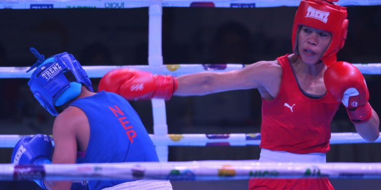 21-05-19 Guwahati- India Open International Boxing Mary Kom Vs M Rai (4)
