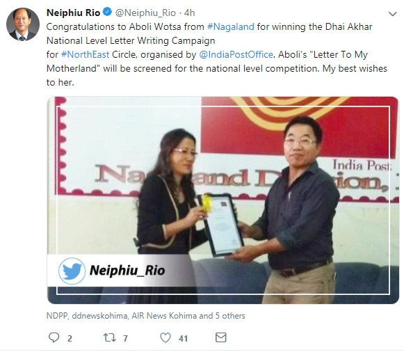 Naga lady evokes letter-writing nostalgia, wins national level competition 1