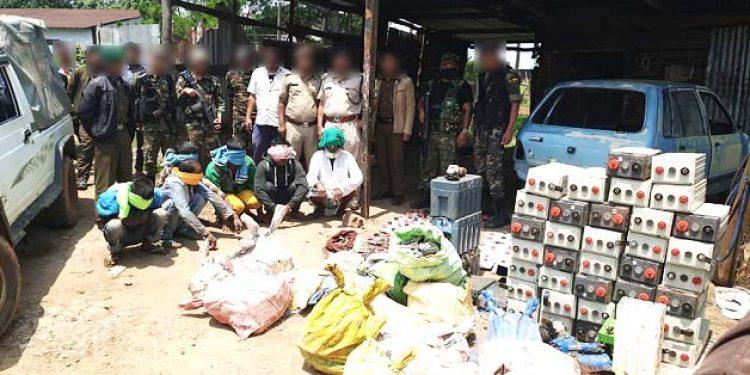Batteries seized