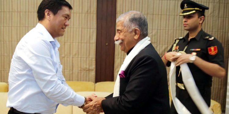 Arunachal Pradesh CM Pema Khandu with governor BD Mishra