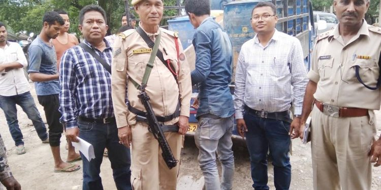 A team of police and district administration officials led by Sissiborgaon circle officer seized about 380 litres of petrol and 568 litres of diesel.