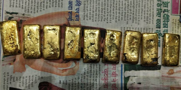 The seized gold bars