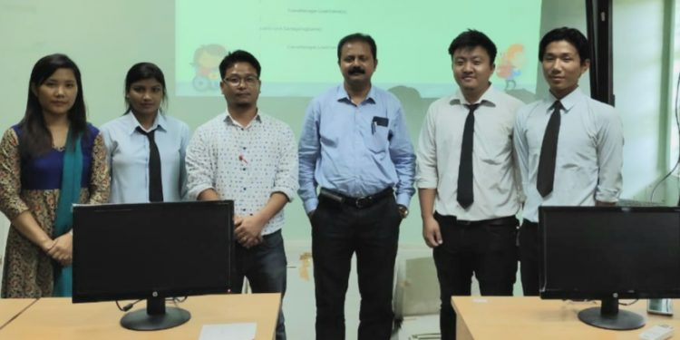 The trio–Kipa Nitin, David Rimpo, and Khushboo Thakur –developed the SBA game for their final year project submission.