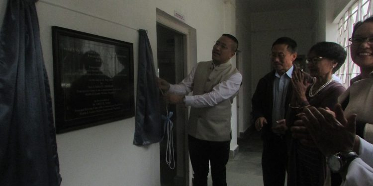 Principal secretary and commissioner of the food safety wing of Nagaland's health and family welfare department, I. Himato Zhimomi, is seen inaugurating the upgraded food laboratory in Kohima.