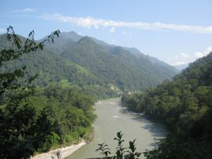 The Manas river encompasses the World Heritage Site in India& Bhutan