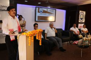 Vice-Chancellor of DU Prof. Ranjit Tamuli delivering keynote address