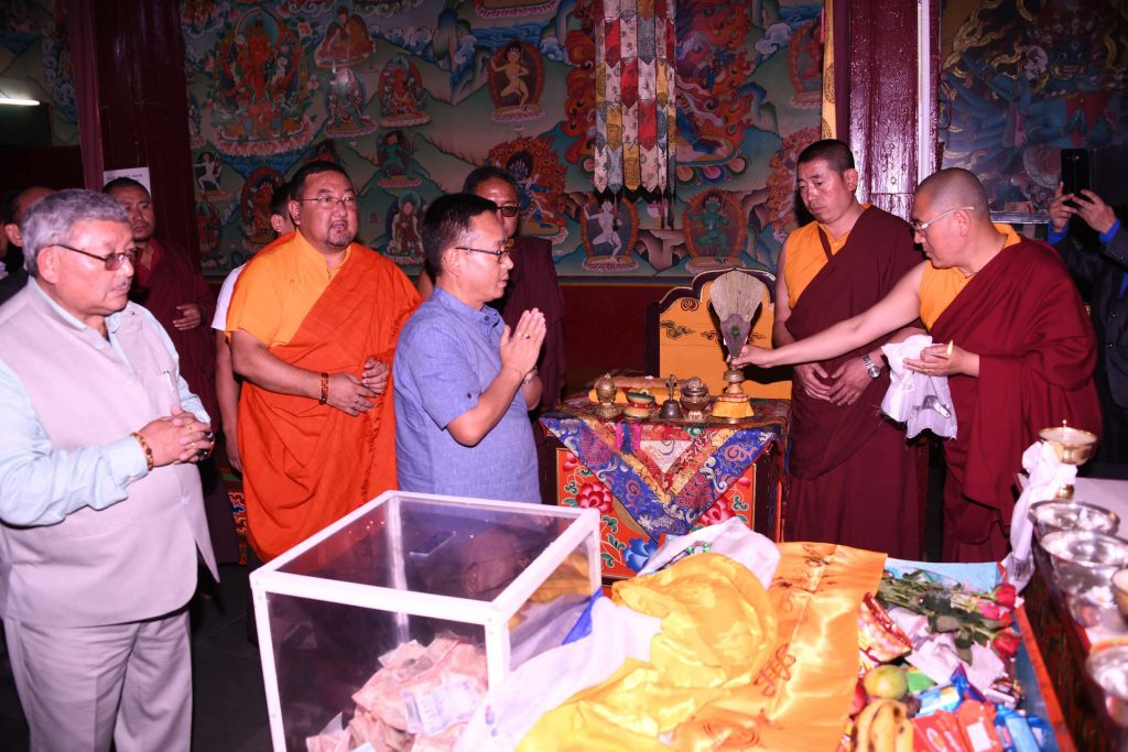 Sikkim CM Tamang visits Enchey Monastery, Rongneck Central Jail 4