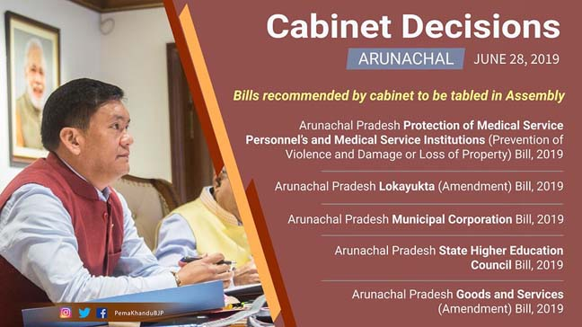 Arunachal cabinet okays bill to protect medical service staff, institutions 1