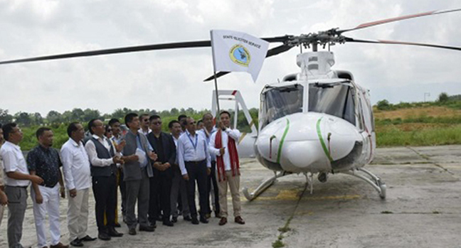 Helicopter in Nagaland