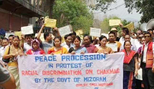 Chakmas protest