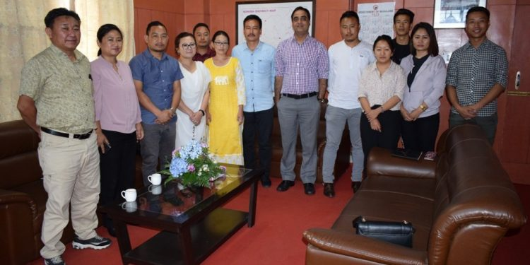 Kohima DC Anoop Khinchi with members of the new District Quick Response Team on Wednesday.