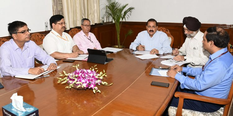 DoNER  minister Jitendra Singh at the meeting in New Delhi on Monday.