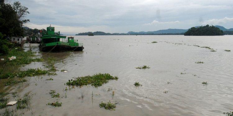 Flooded Brahmaputra river