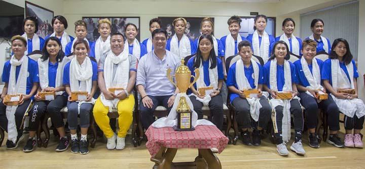 Arunachal girls football team