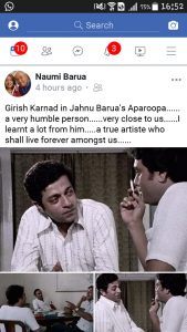 Girish Karnad who acted in Assamese film 'Aparoopa' passes