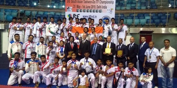 A view of winners at South Asian Open Taekwon-Do Championship in New Delhi. Image credit - Facebook