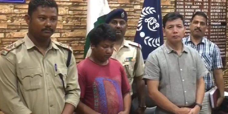 Arrested poacher Rijen Pegu