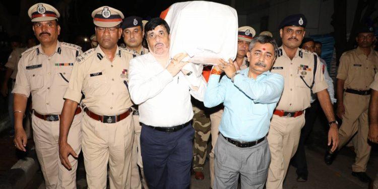 The mortal remains of slain CRPF jawan Sunil Kalita being brought home. (File image)