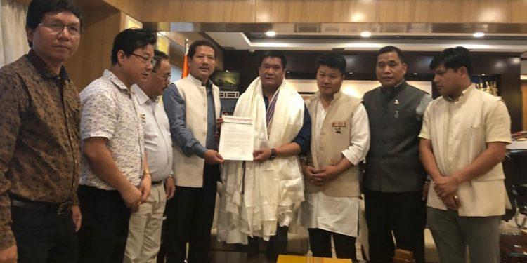 NPP delegation with Khandu