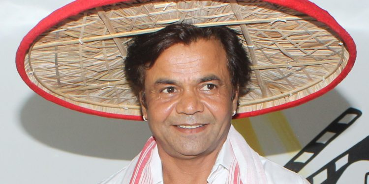 Actor Rajpal Yadav being felicitated during an acting workshop in   Guwahati on Saturday. Image credit: UB Photos