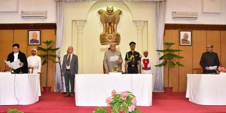 Swearing-in Ceremony of Shri Padmanabha Balakrishna Acharya as the Governor of Manipur at Raj Bhavan on 27.6.2019 (111)