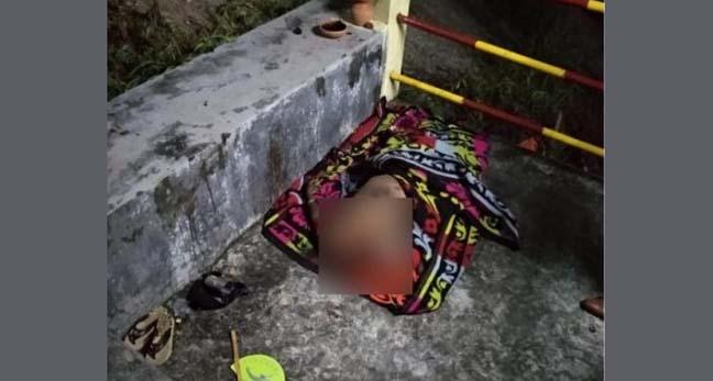 Woman's headless body