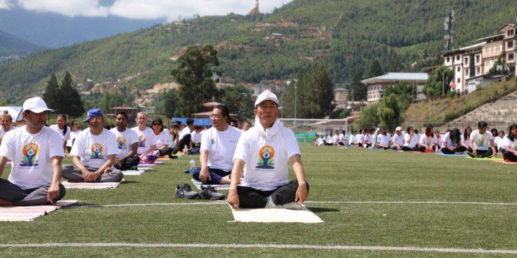 bhutan pm yoga
