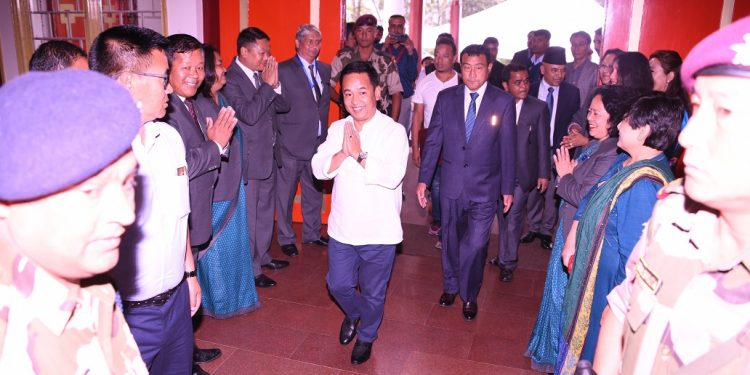 Sikkim chief minister P S Golay entering the Assembly for the first session on June 3, 2019. Image: Northeast Now