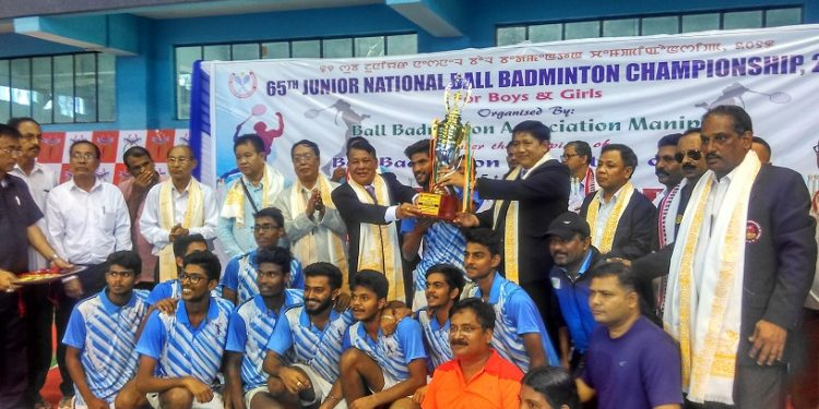 winner of boys category- kerala team with myanmar ministers and BBFI officials