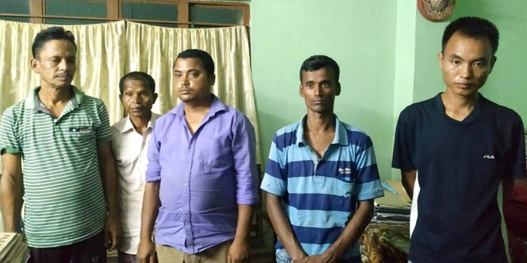 Assam Police and forest officials in a joint operation arrested two poachers from Sootia area.
