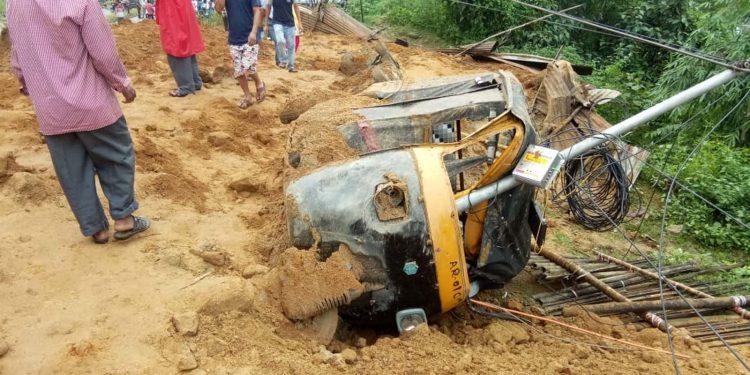 A view of landslide in Itanagar. (File image)