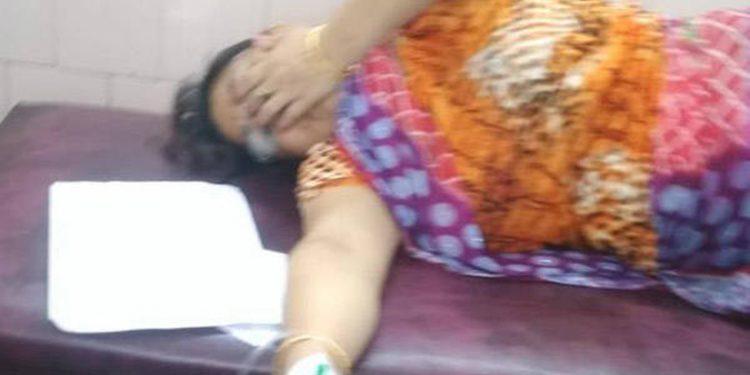 Woman injured in grenade blast being treating at RIMS hospital. Image credit: Nagaland Post