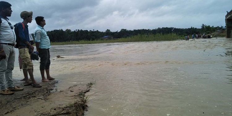The rivers in Hailakandi district are flowing above the danger level. Image credit - Northeast Now