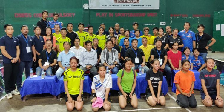 The participants of the first edition of Capital Complex Inter-Club Badminton Championship. Image credit - Northeast Now