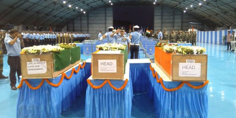 Homage paid to the JCOs of 4 Assam regiment. Image credit - Northeast Now
