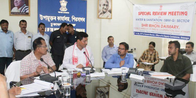 Assam minister Rihon Daimary reviews schemes in Sivasagar 1