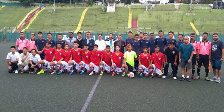 Players from State Sports Academy and Namthang Football Academy participating in Sikkim Football Association U-17 Football League 2019. Image credit - Northeast Now