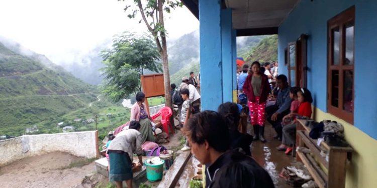 The landslide and flood-affected people. Image credit - Northeast Now